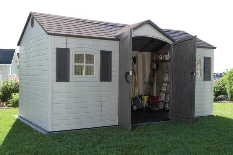 Lifetime 6446 15'×8' Outdoor Storage Shed