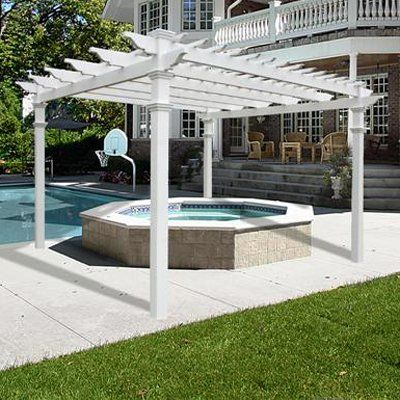 New England Arbors VA42055 Regency Vinyl Pergola Kits