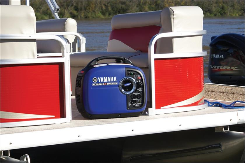 Yamaha generator on boat